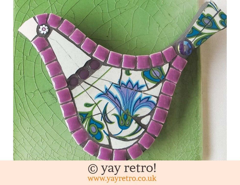 Purple Floral Medium Mosaic Bird - Vintage Shop, Retro China ...