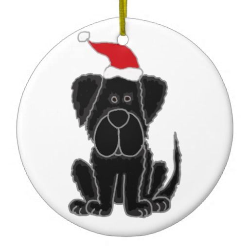Funny Black Newfoundland Dog Christmas Ornaments #Christmas #ornament # Newfoundland #dog #black - Funny Black Newfoundland Dog Christmas Ornaments #Christmas