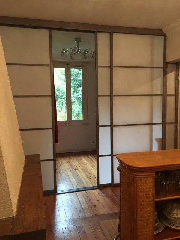 cloison coulissante japonaise dans une création de chambre \u2026 Pinteres\u2026 - pose de porte interieur