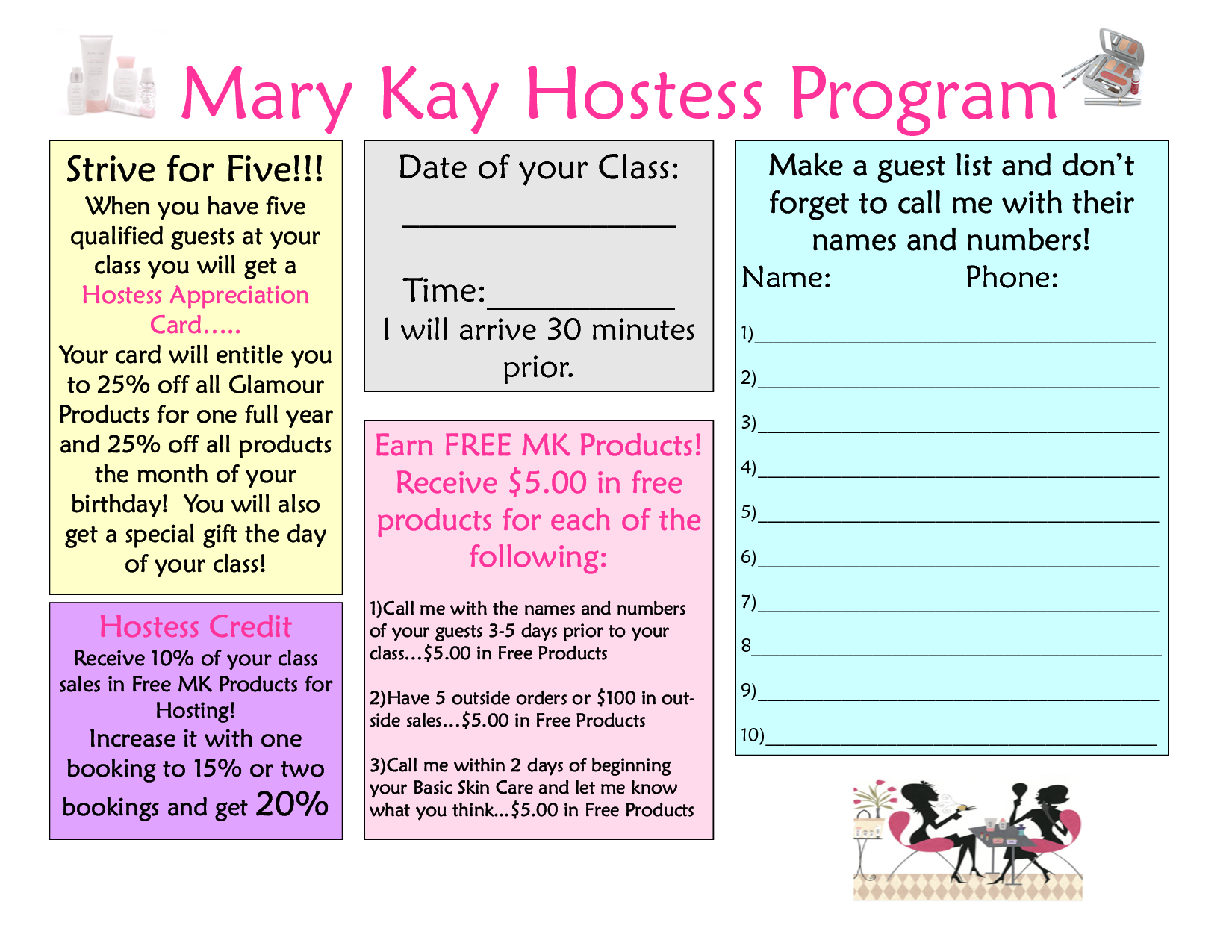 Mary Kay Business Cards Pdf Google Search Pink Superstar In