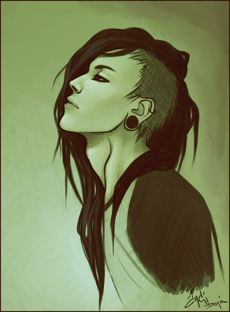 If I ever grow my hair out again I will do this. Disegno