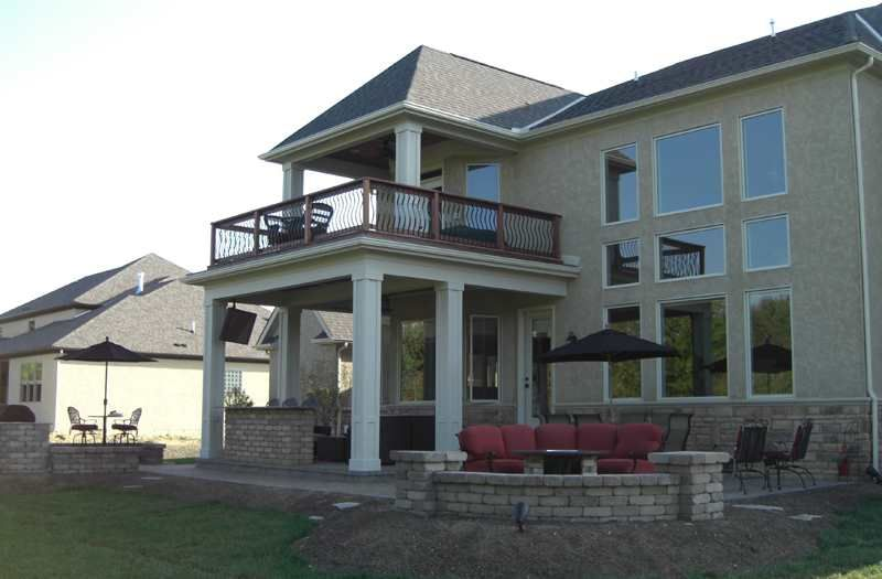 I Like The Partially Covered Second Story Deck Outdoor