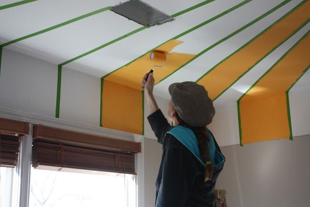 The Nursery Part I A Striped Ceiling With Images Striped