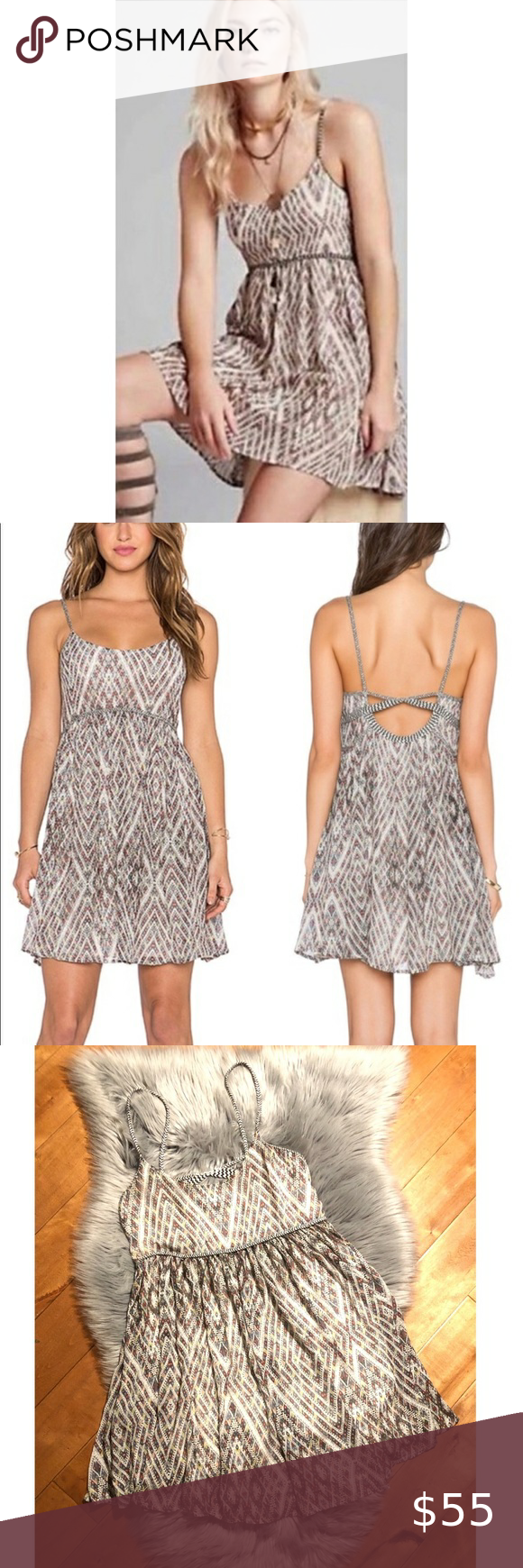 """Free People """"Periscope in The Sky""""Babydoll Dress"""