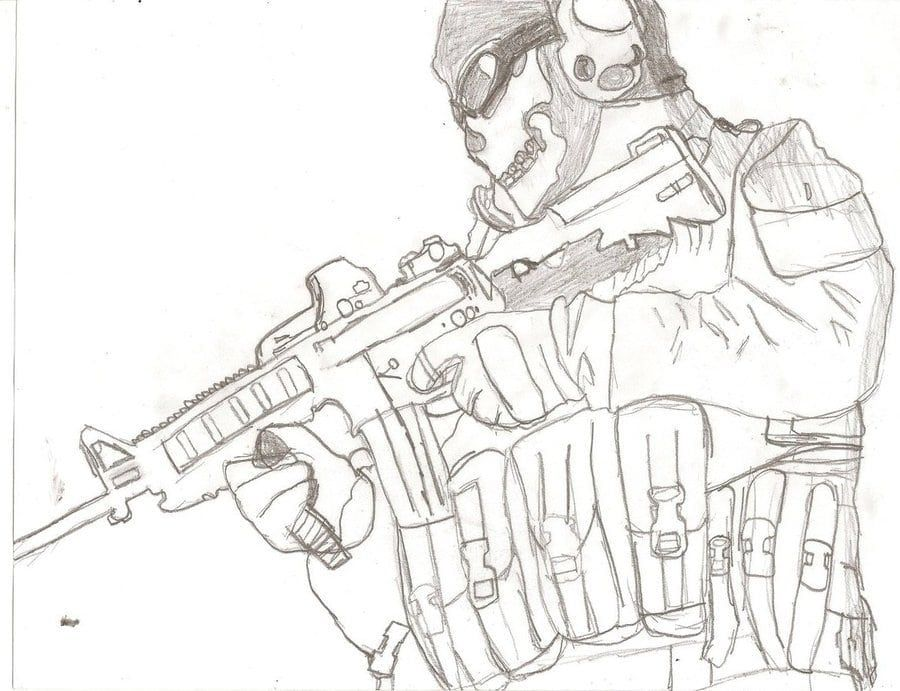 Call Of Duty Coloring Pages Call Of Duty Call Of Duty Ghosts Coloring Pages
