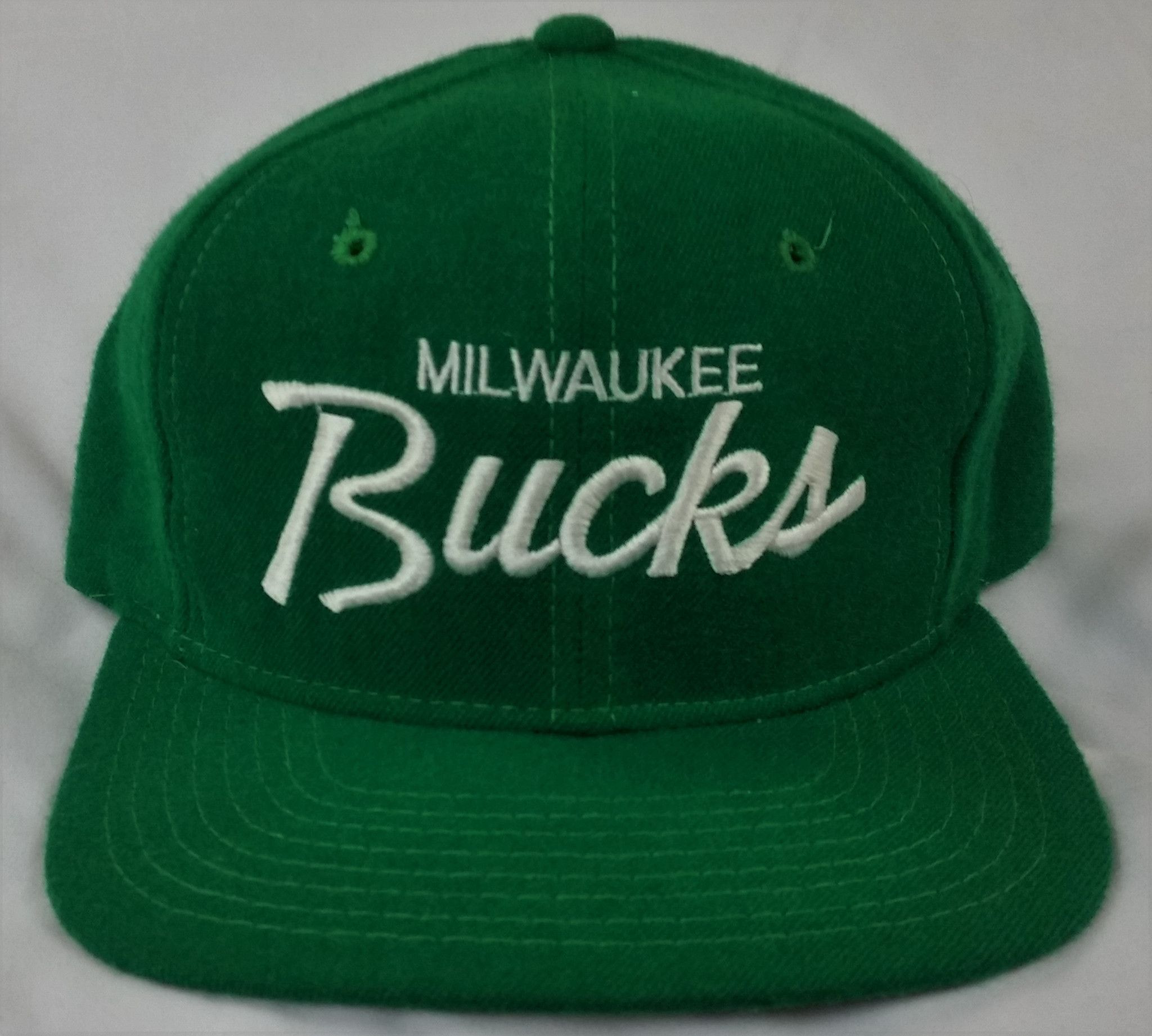ff4e356b Milwaukee Bucks Vintage Snapback Sports Specialties Script Hat NBA Draft  Day Cap