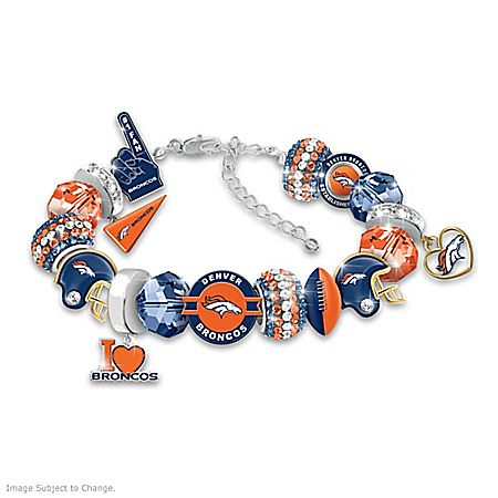 Fashionable Fan Denver Broncos NFL Charm Bracelet