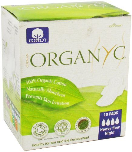 Organyc - Organic Cotton Menstrual Pads with Wings Heavy