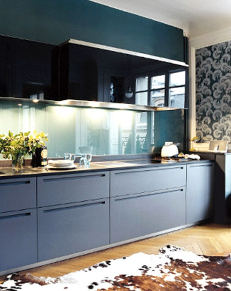 Lovely Blue Kitchen Cabinets | Home Decorations | Pinterest | Blue ...