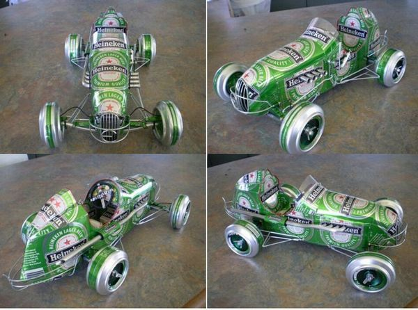 Image result for arte com latas de refrigerante