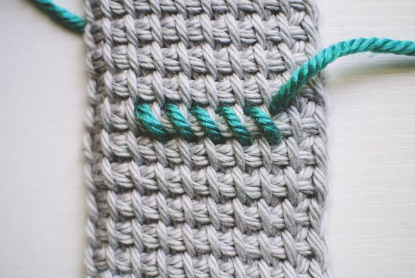 How To Cross Stitch On Tunisian Crochet Free Photo Tutorial