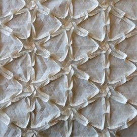 Textured Triangle Tessellations - fabric manipulation techniques to create dimensional patterns