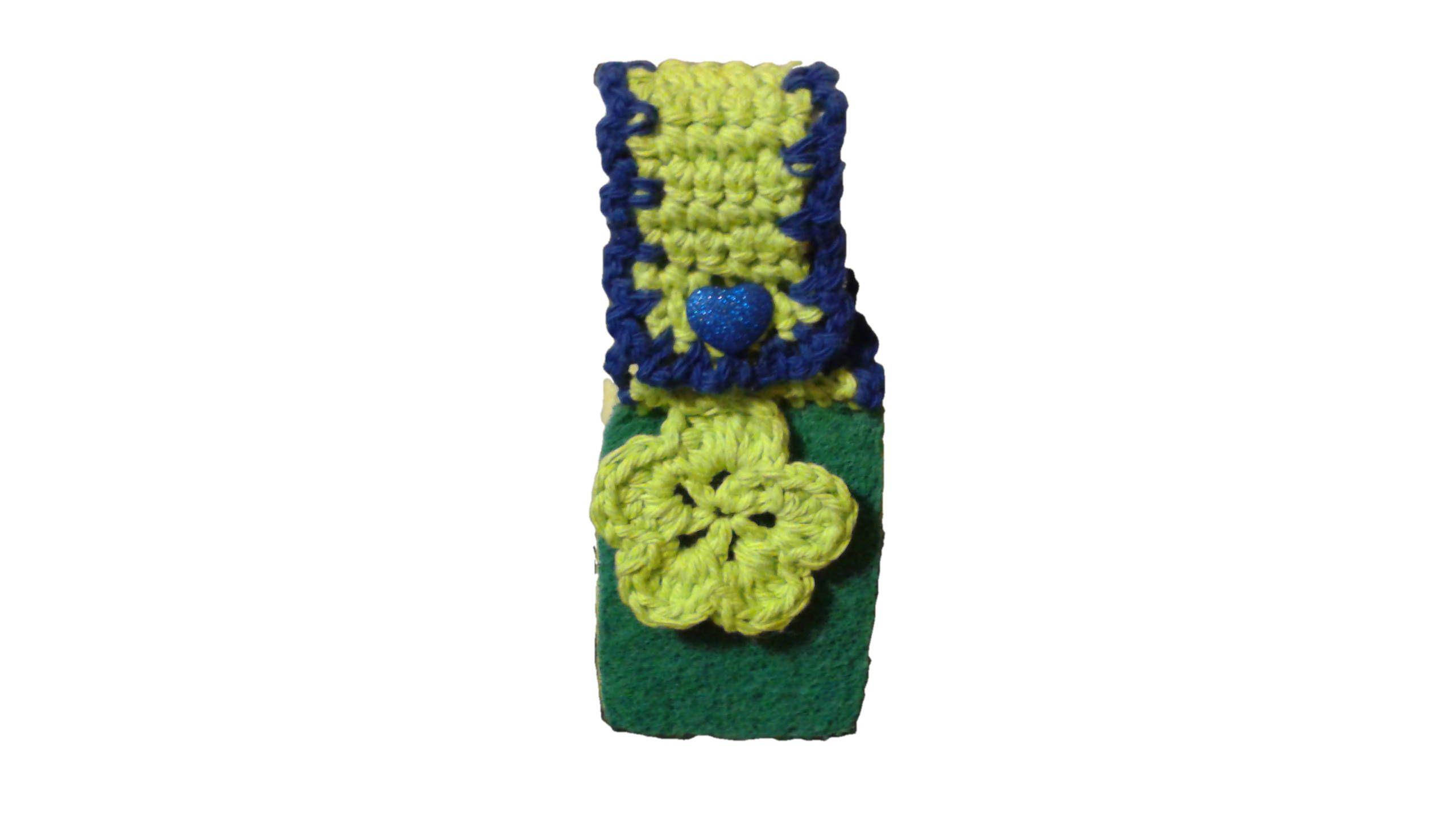 Kitchen Scrubbie Sponge-Reusable Sponge-Green and Blue Hanging Heart ...