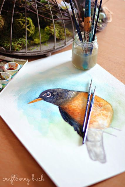 Craftberry Bush Into The Woods Bird Watercolour Paintings