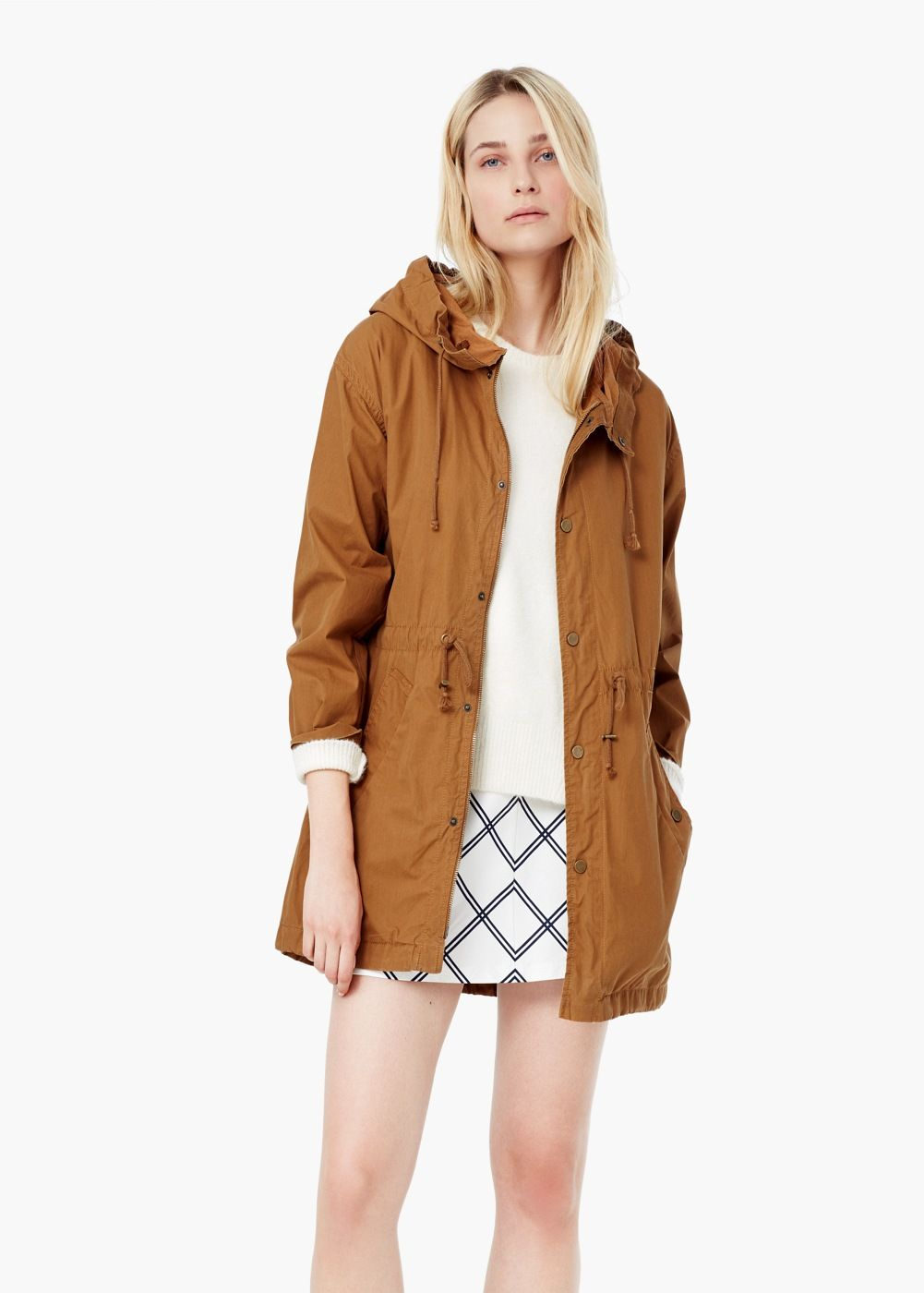 Hooded cotton parka | Cotton, Parka coat and Woman