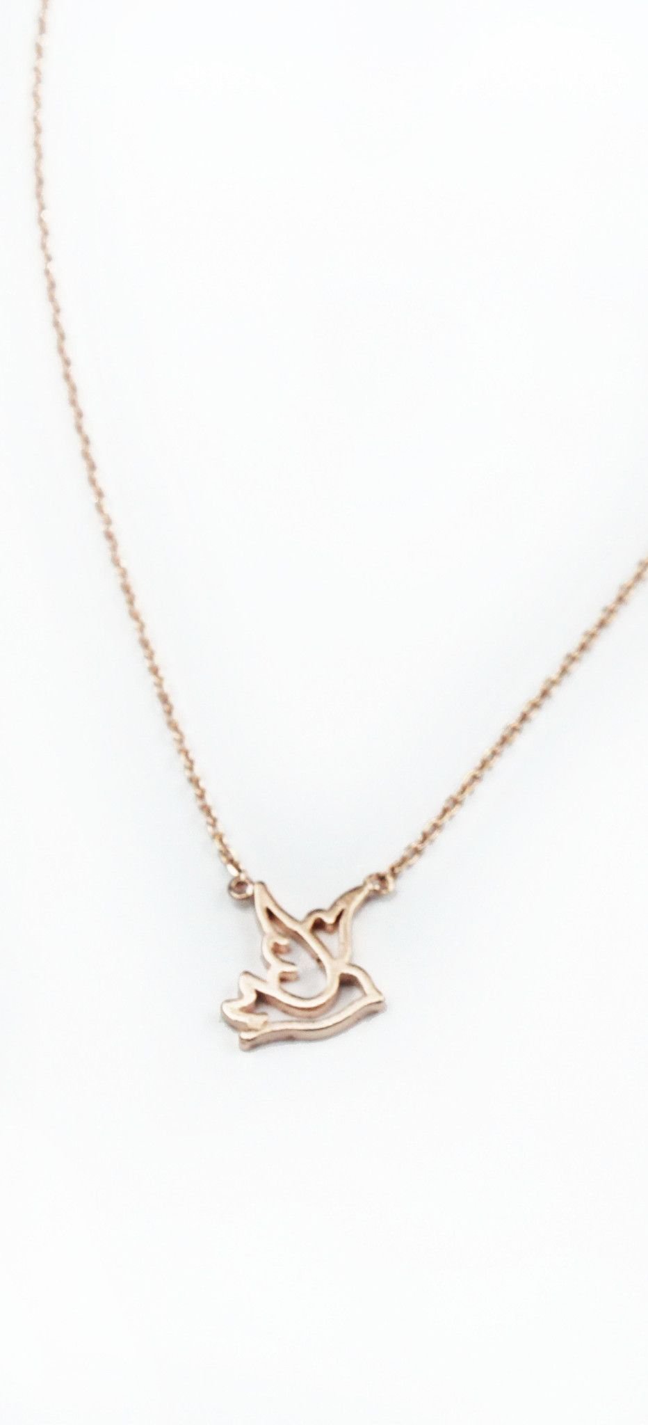 Pleasant Presence Rose Gold Bird Necklace