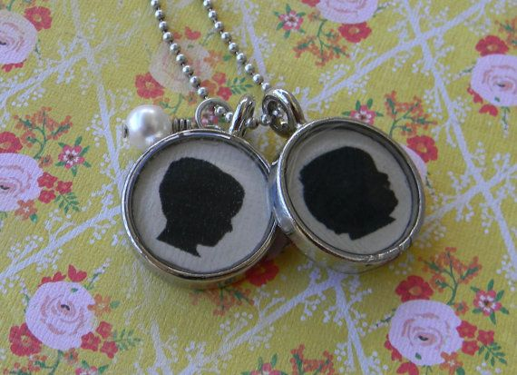 A necklace with silhouettes of your children!