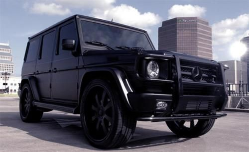 Black mercedes g wagon murdered for Mercedes benz g wagon black matte
