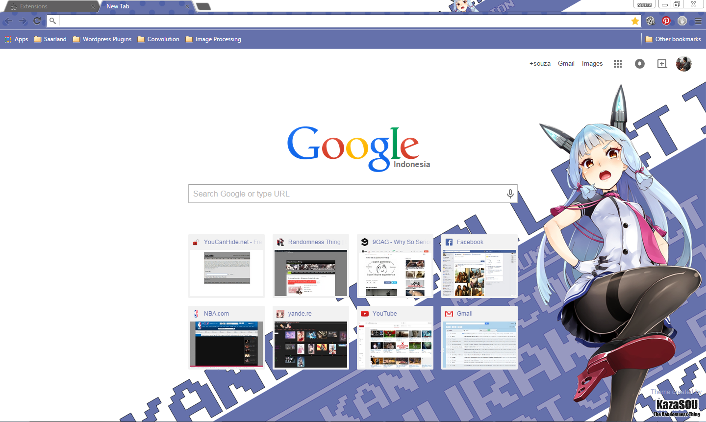 Google chrome themes tokyo ghoul - Murakumo From Kantai Collection Kancolle Is Debuting In Her Google Chrome Theme In This