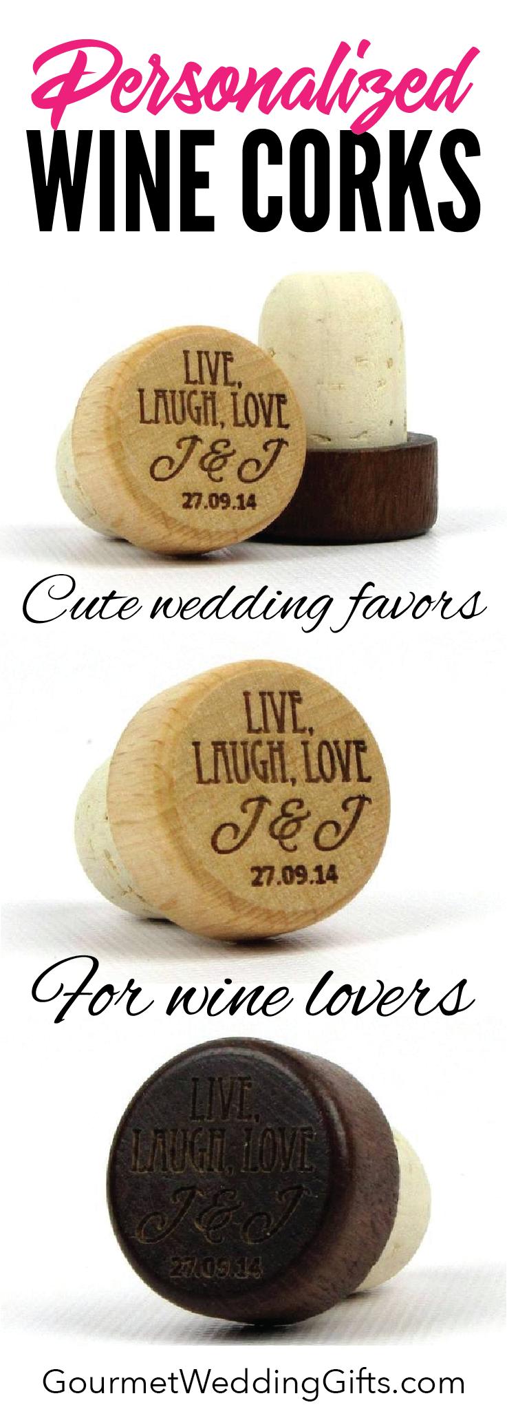 Wine Bottle Cork Stoppers Live Laugh Love Design Unique