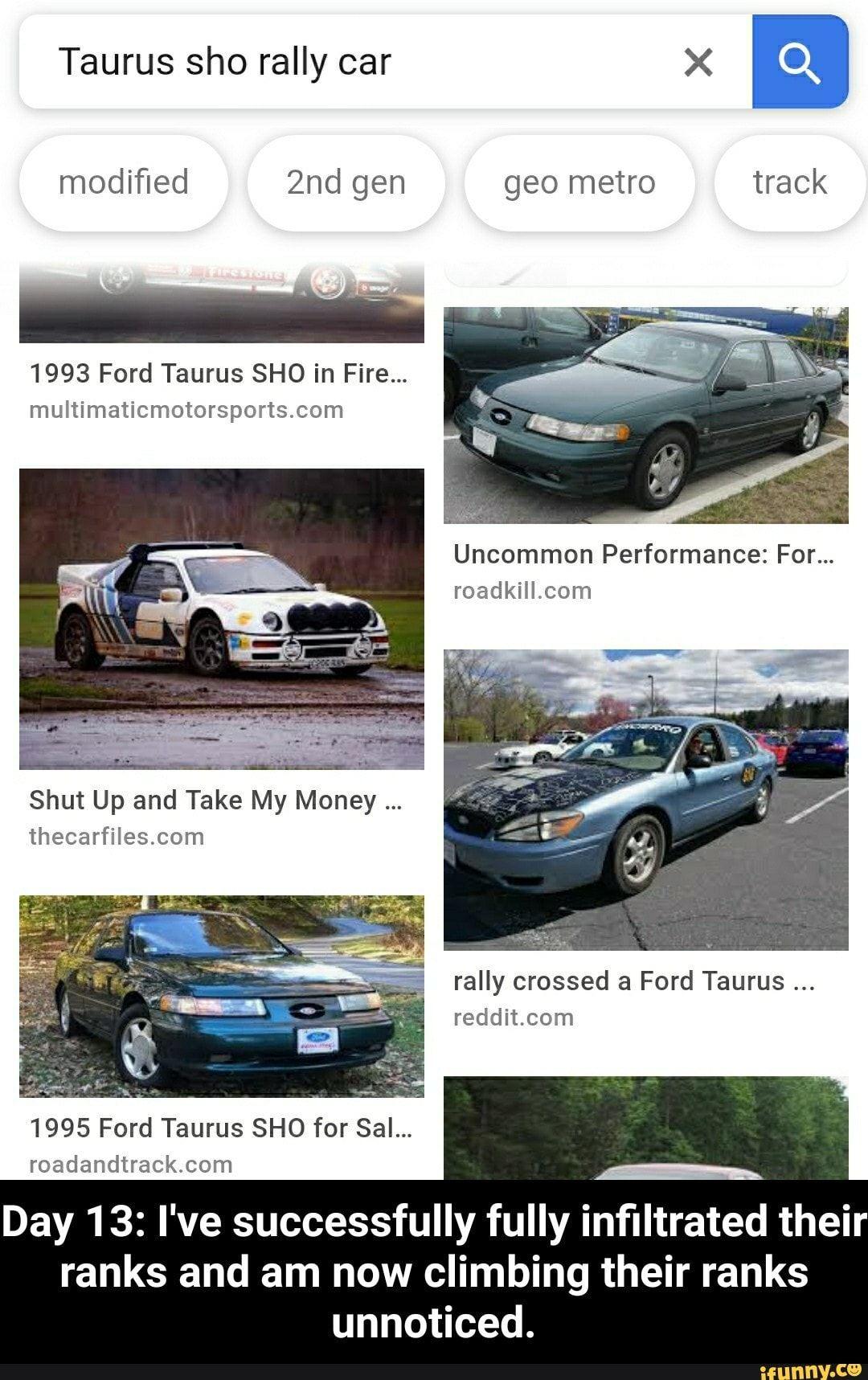 Gen Geo 1993 Ford Taurus Sho In Fire Multimaticmotorsports Com
