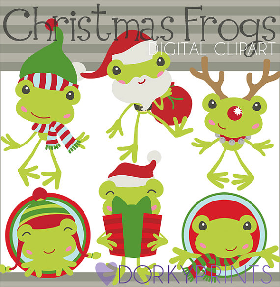Christmas clip art christmas frogs personal and limited christmas clipart christmas frogs personal and limited commercial use santa frog rudolph frog holiday clip art publicscrutiny Images
