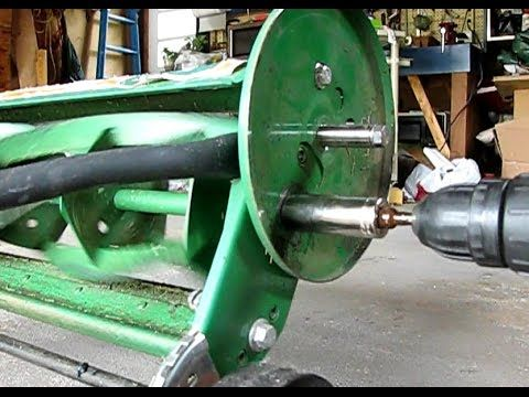1 How To Sharpen A Scott 39 S Reel Mower Youtube Manual Lawn Mower Reel Mower Lawn Mower Blades