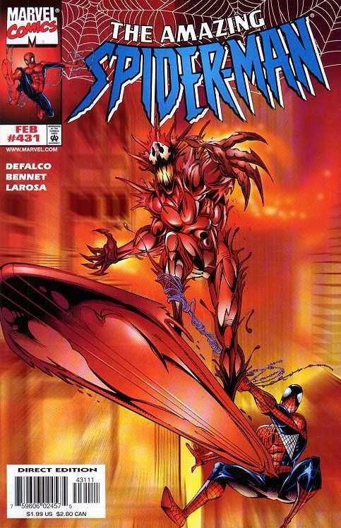 Amazing Spider Man 431 By Tom Lyle Bud Larosa Amazing Spiderman Amazing Spider Man Comic Spiderman Comic