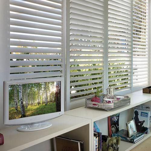Track Faux Wood Shutters Homey Things Wooden Window