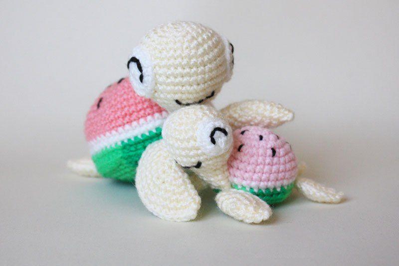 Tortugas sandía - patrones de amigurumi gratis | tejido | Pinterest ...