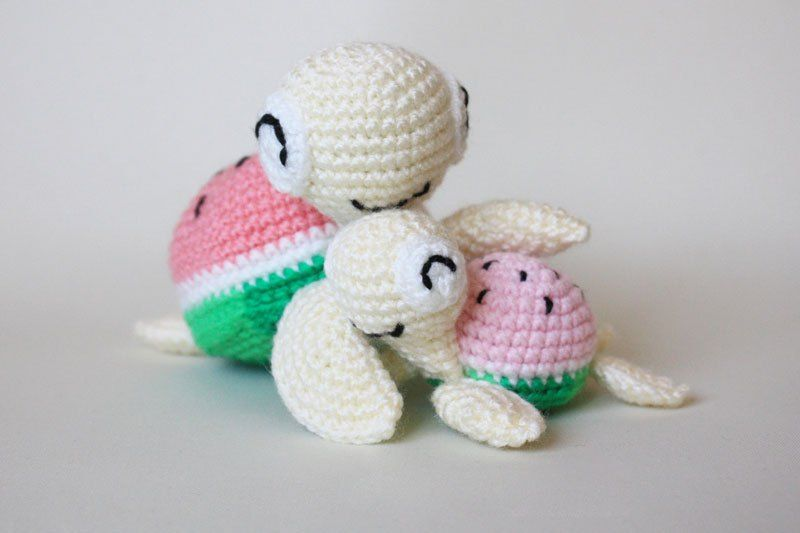 Watermelon turtles – free amigurumi patterns | Amigurumi Animals ...