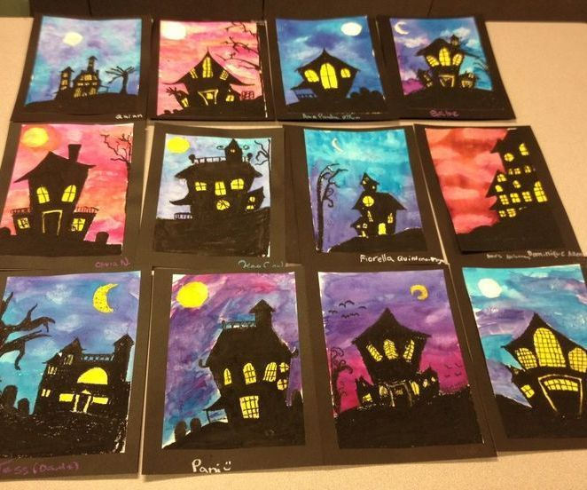 Halloween Pastel Project #halloweencraftsforkids