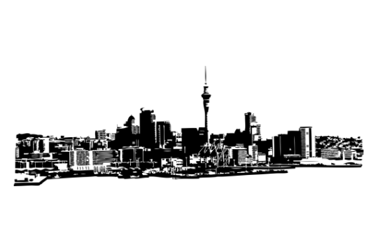 Auckland Skyline | Von JohannaKiwi | TapeRay Wandtattoo Skyline Australien