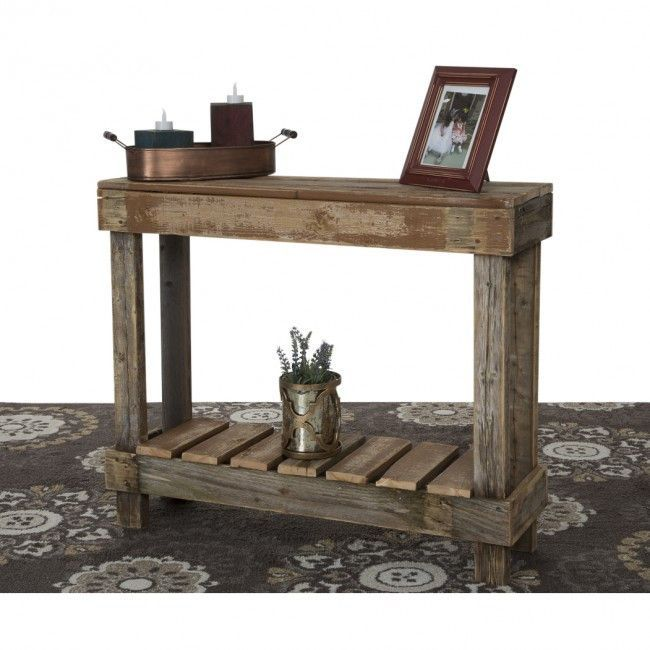 Reclaimed Wood Entry Table Wood Entry Table Pallet Projects Furniture Wood Furniture Plans