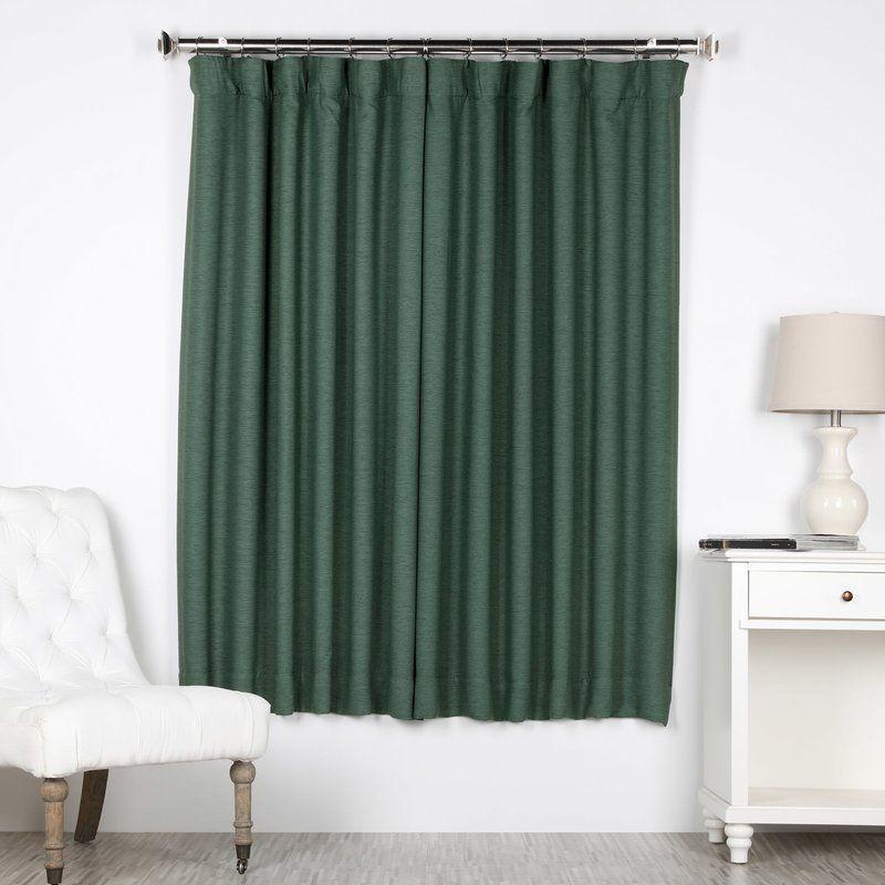 Jolene Blackout Rod Pocket Single Curtain Panel Panel