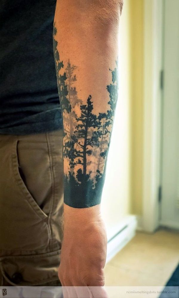 40 Deep And Super Cool Forest Tattoo Ideas Bored Art Cool Forearm Tattoos Forearm Tattoos Forest Tattoos