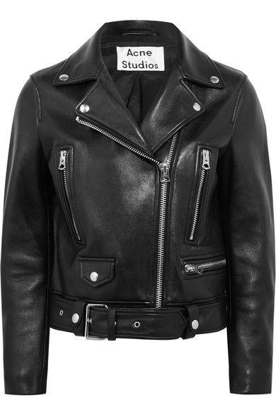 Acne Studios Leather Biker Jacket Black Black Leather Biker Jacket Biker Jacket Leather Jacket