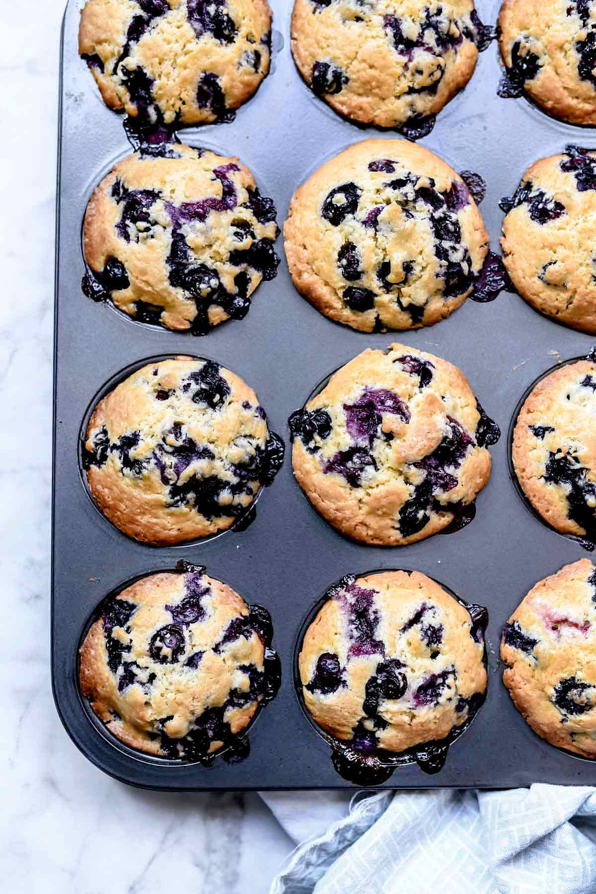 Homemade Blueberry Muffins (From Scratch!) | foodiecrush .com