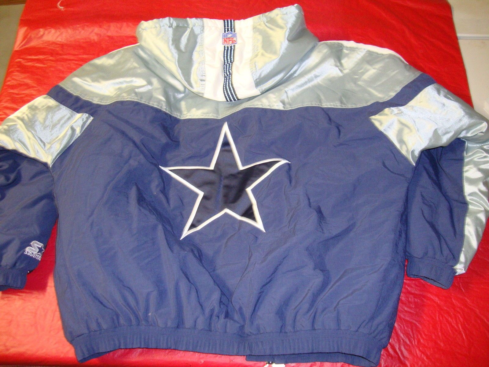 Dallas Cowboys Starter Proline Jacket Parka NFL football jersey Medium M  Shiny 804695d8f