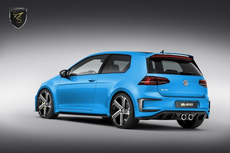 The Golf R400 has 395 hp and will do 060 in less than 4 seconds