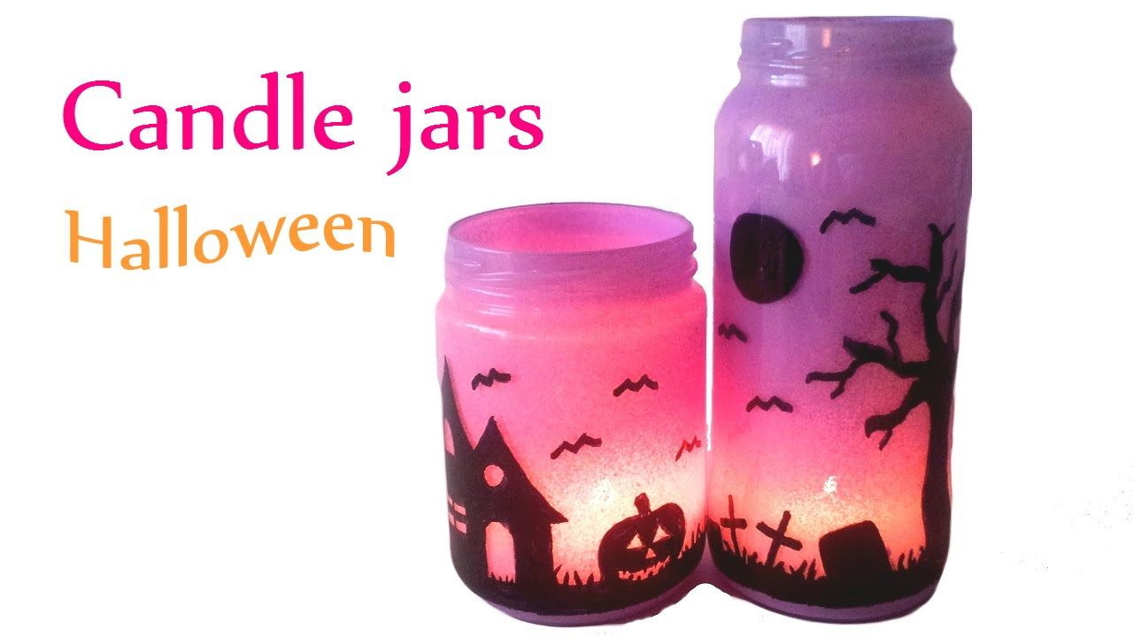 diy crafts halloween decorations candle jars innova crafts how to make candle jars