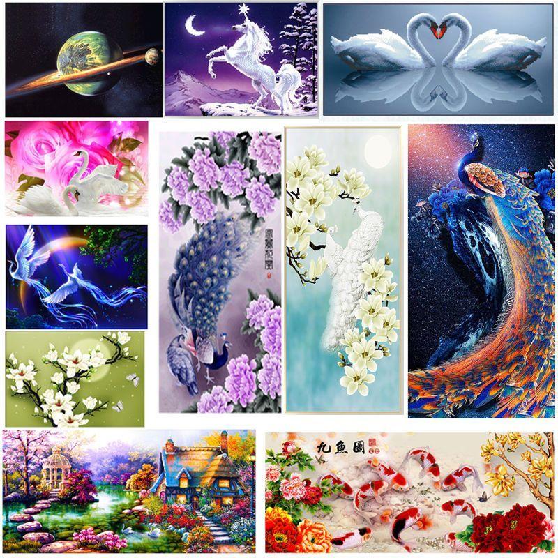 14 styles 5d diy diamond embroidery painting cross stitch kit home decor