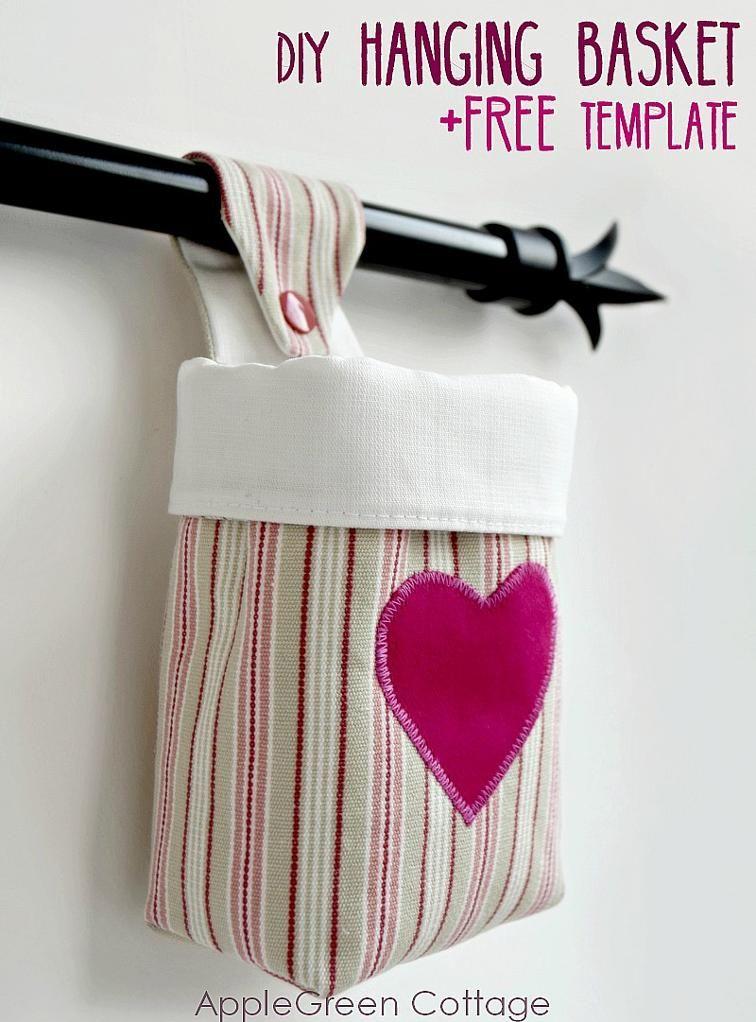 Fabric Hanging Basket Pattern | Bluprint