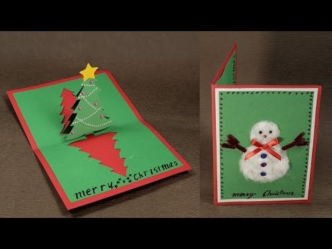 how to make a merry christmas pop up card