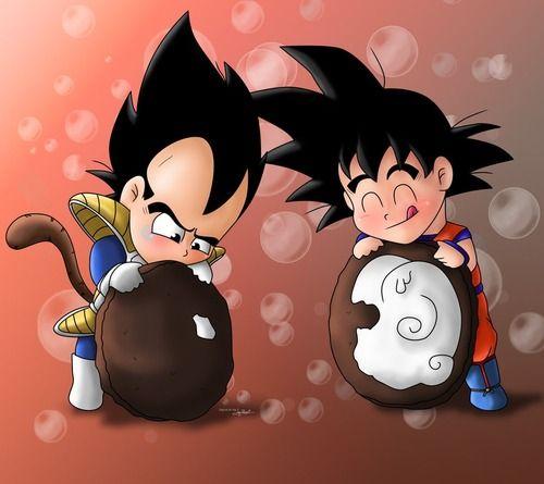 DBZ / Oreo cookie / Vegeta vs Goku