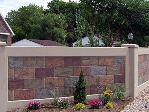 boundary wall design google search - Brick Wall Fence Designs
