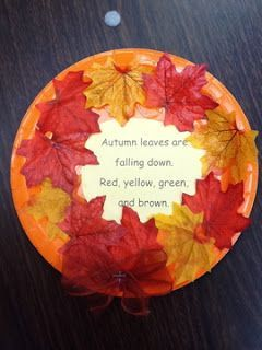 Leaf Activities Crafts Fall Wreath With Poem In Center