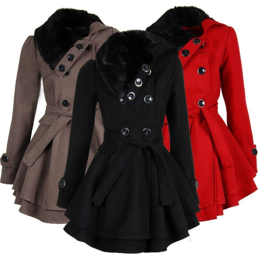 buy online 2bea0 2aa1e Laeticia Dreams Damen Mantel Jacke Winterjacke Mantel mit ...