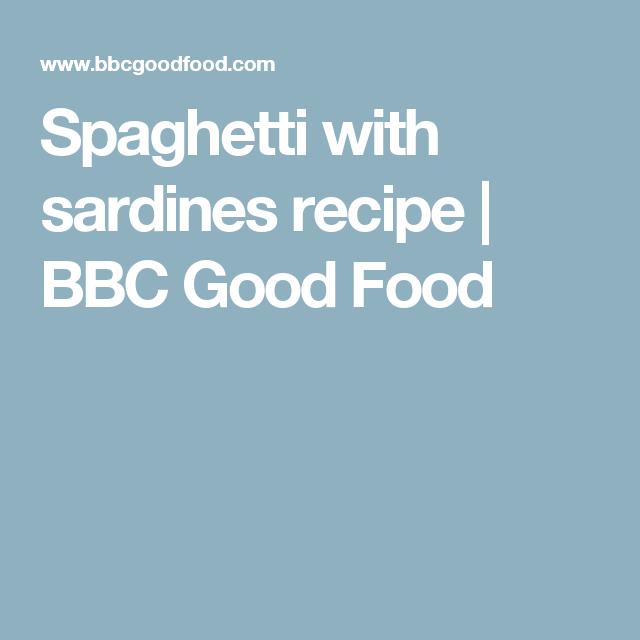 Spaghetti With Sardines Recipe