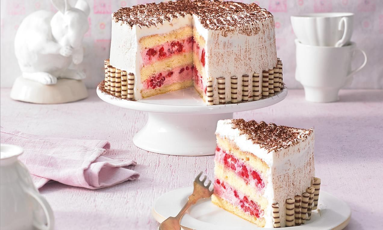 Kleine Himbeer Torte Ganz Gross Rezept Kuchen Und Torten Himbeertorte Rezept Und Kuchen